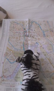 Looking at the map of Gent