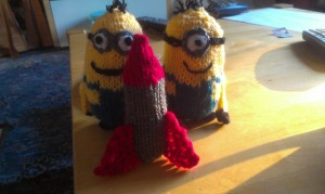 Minions 1 and 2 with missile