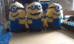 Minions 1, 2 and 3!