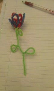 Pipecleaner flower