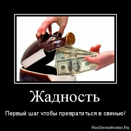 zhadnost__svinstvo