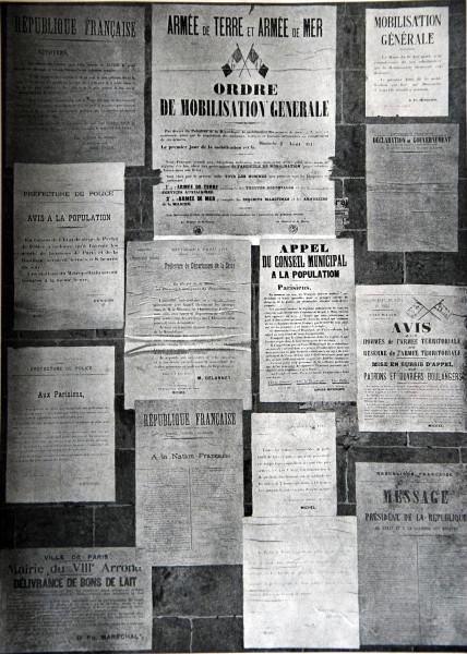 Французские воззвания, раскленные на стенах Праижа в день объявления войны