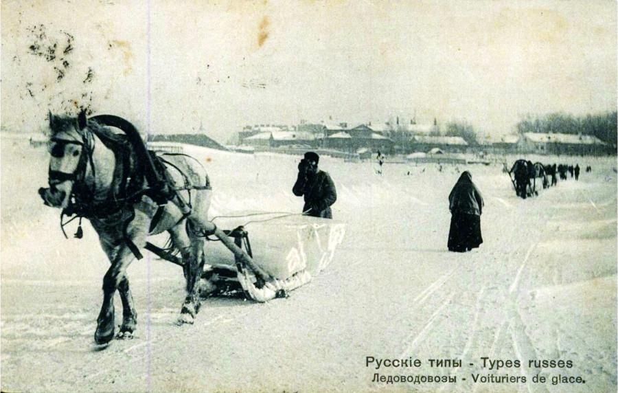 Русские типы. Ледовозы. Изд. Ришар №171