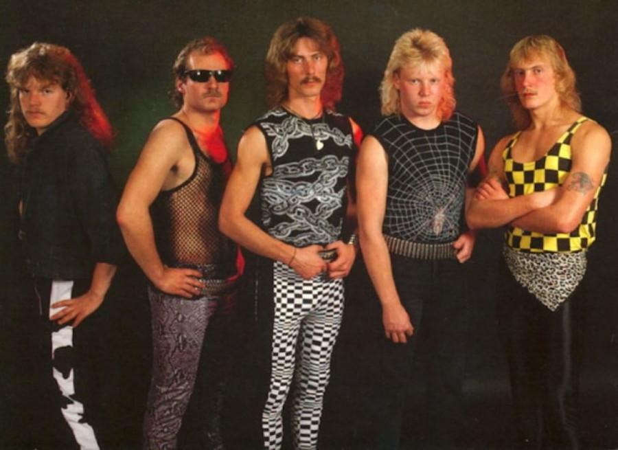 История женских лосин и помады на мужчинах в рок музыке.