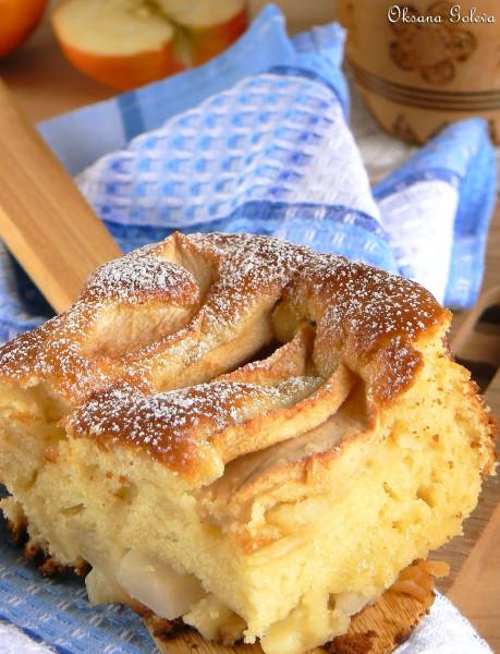 Пирог яблочный без кефира