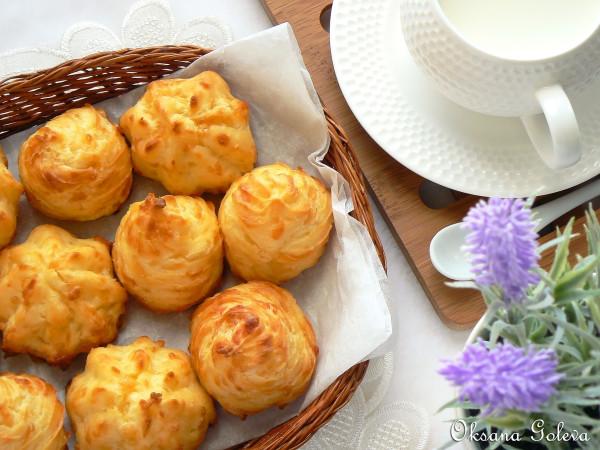 как приготовить сырное заварное печенье