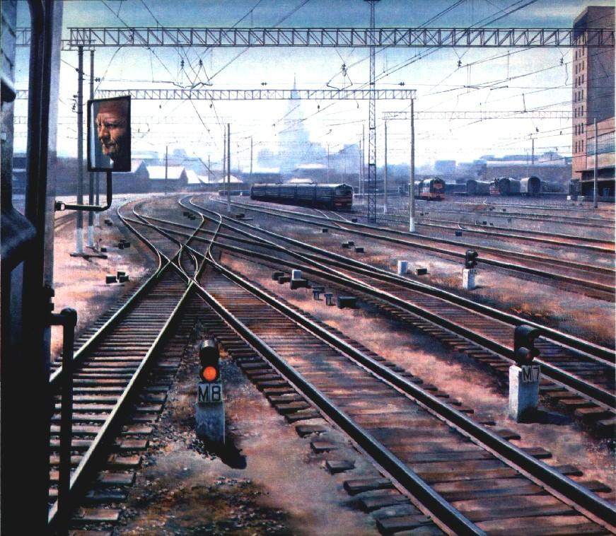 А Петров Москва Казанский вокзал 1981