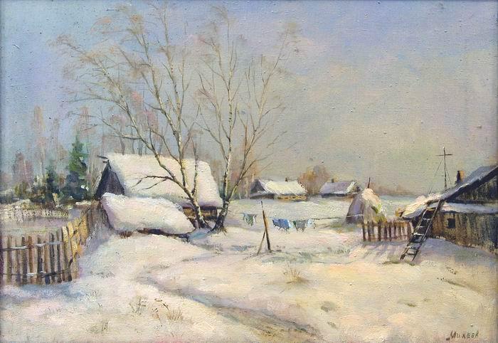Михеев Зима. Деревня. 2000 г.