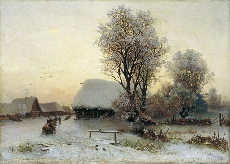 Зимний вечер Кондратенко Г_ П_small