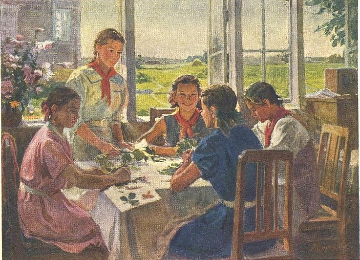 Сергеева Нина Алексеевна (УССР, 1921) - В пионерской комнате 1953_3
