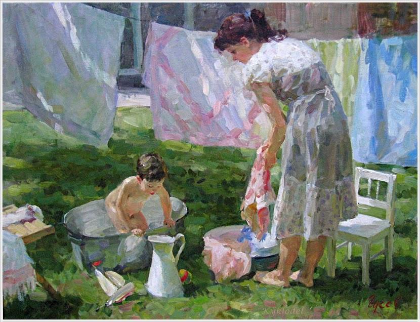 Гусев Владимир Сергеевич (Россия, 1957) «Купание»