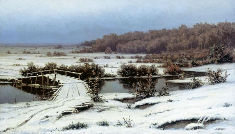 Ранний снег 1883 (Волков Е. Е.)2