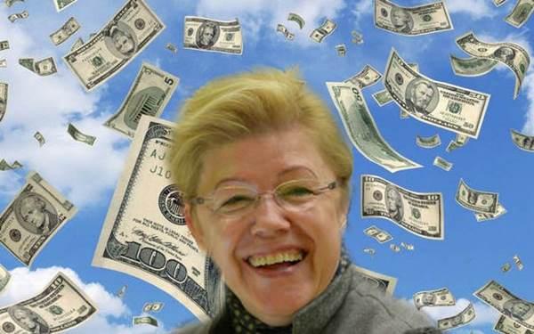 Елена Мизулина, Справедливая Россия, прайс, деньги