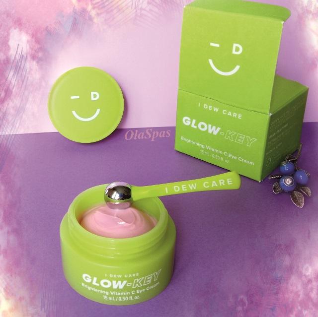 Крем для глаз с шариком – I Dew Care, Ключ к Свечению, Осветляющий с витамином С