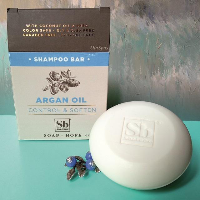 Классная новинка – твёрдый аргановый шампунь Soapbox Control & Soften