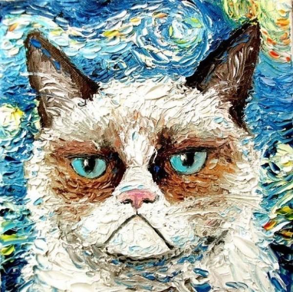сердитый-кот-рисунок-песочница-842501