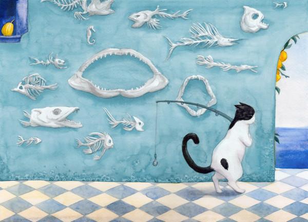 рыбак кот