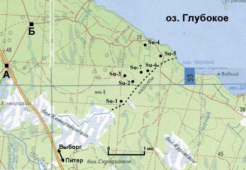 Карта укрепрайона Суурниеми. Источник: http://www.levin.aroundspb.ru/
