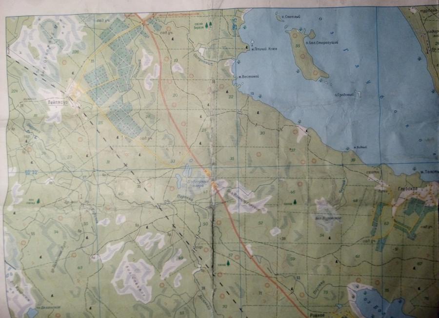 Карта Лейпясуо.