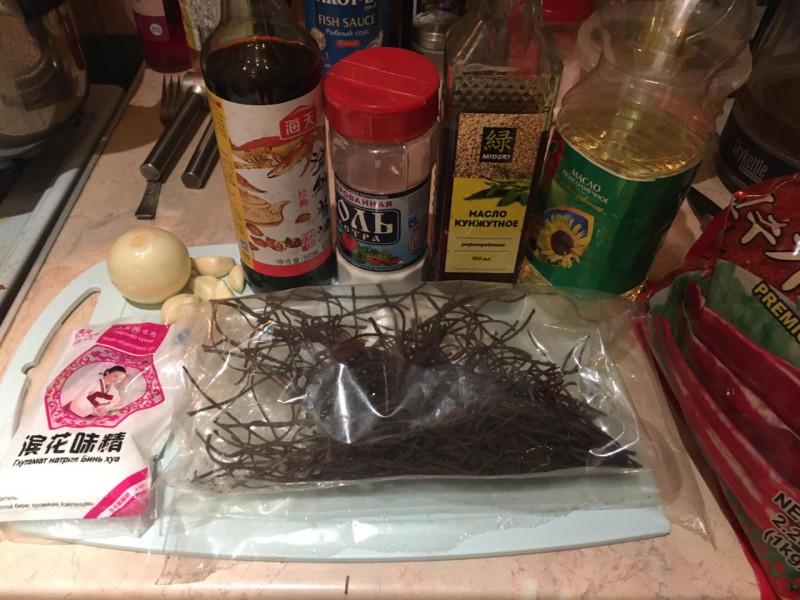 Ингредиенты для приготовления папоротника