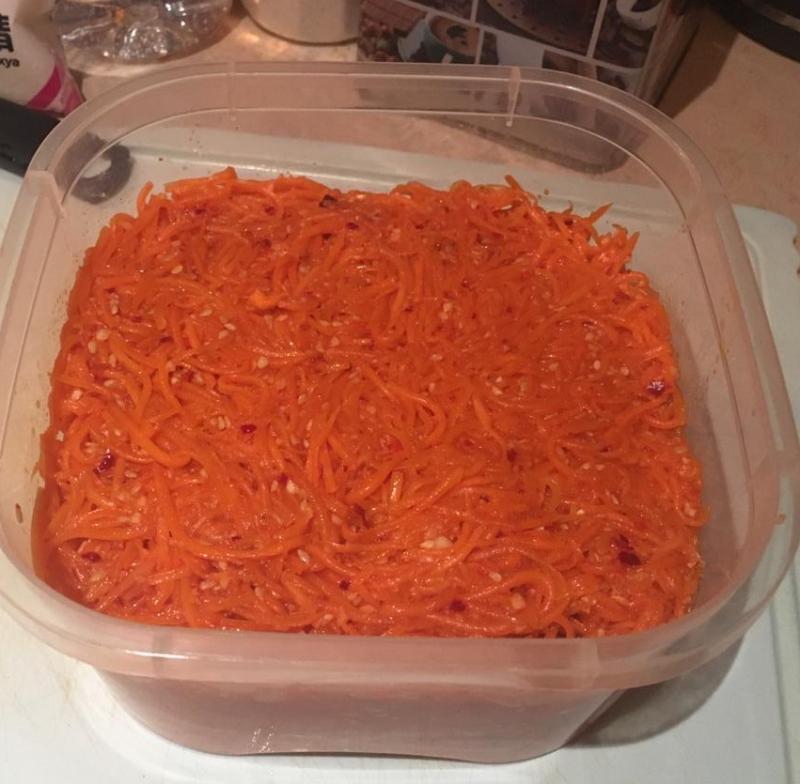Морковь по-корейски. Готовое блюдо