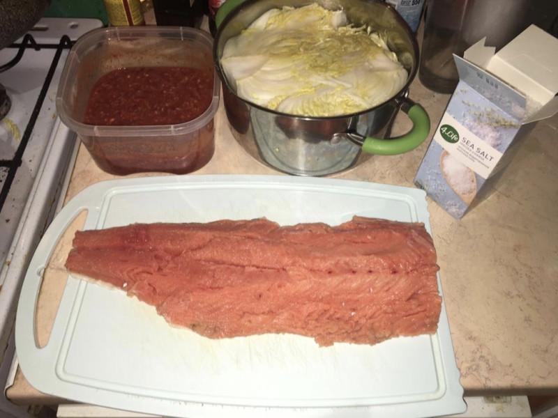 Основной ингредиент императорского ким-чи – солёная рыба