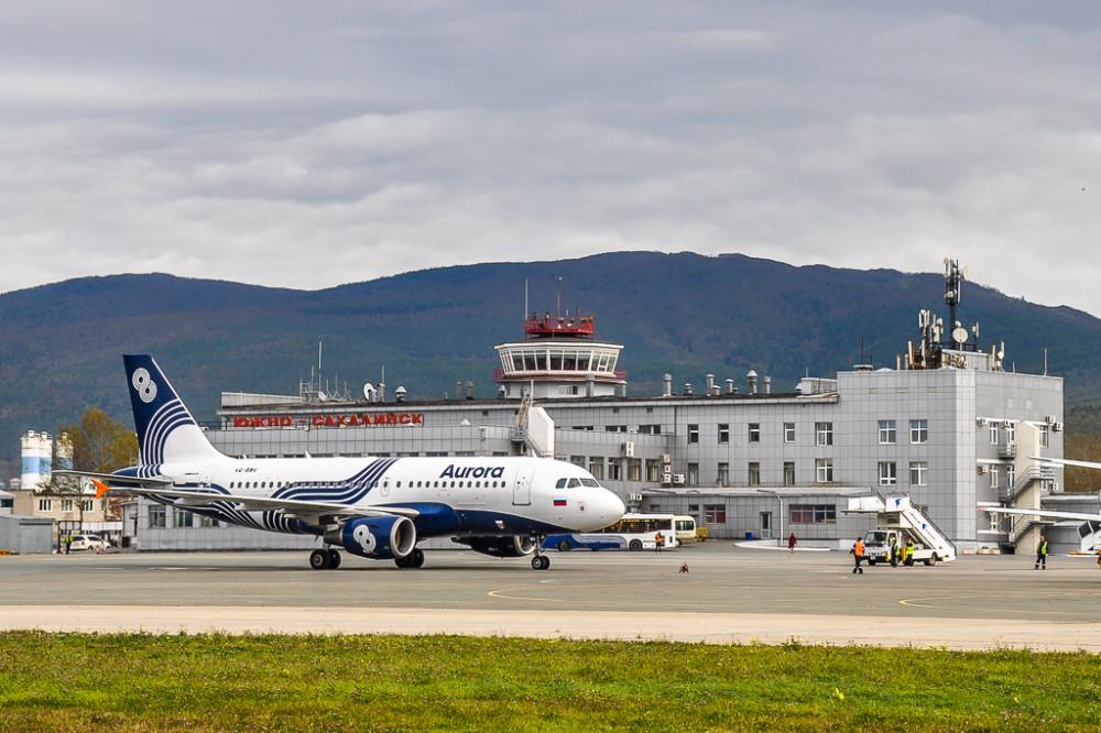 Аэропорт «Хомутово» – Южно-Сахалинск. Источник WikiPedia