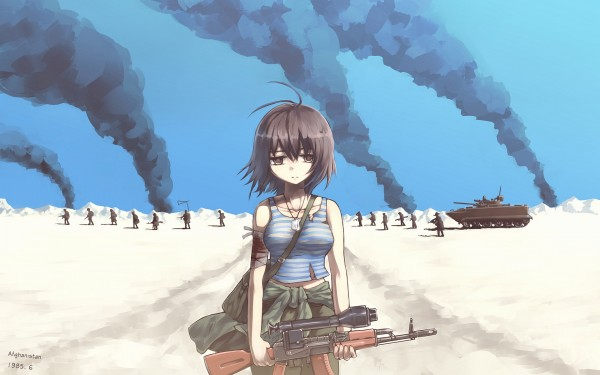 7029199-sad-army-girl