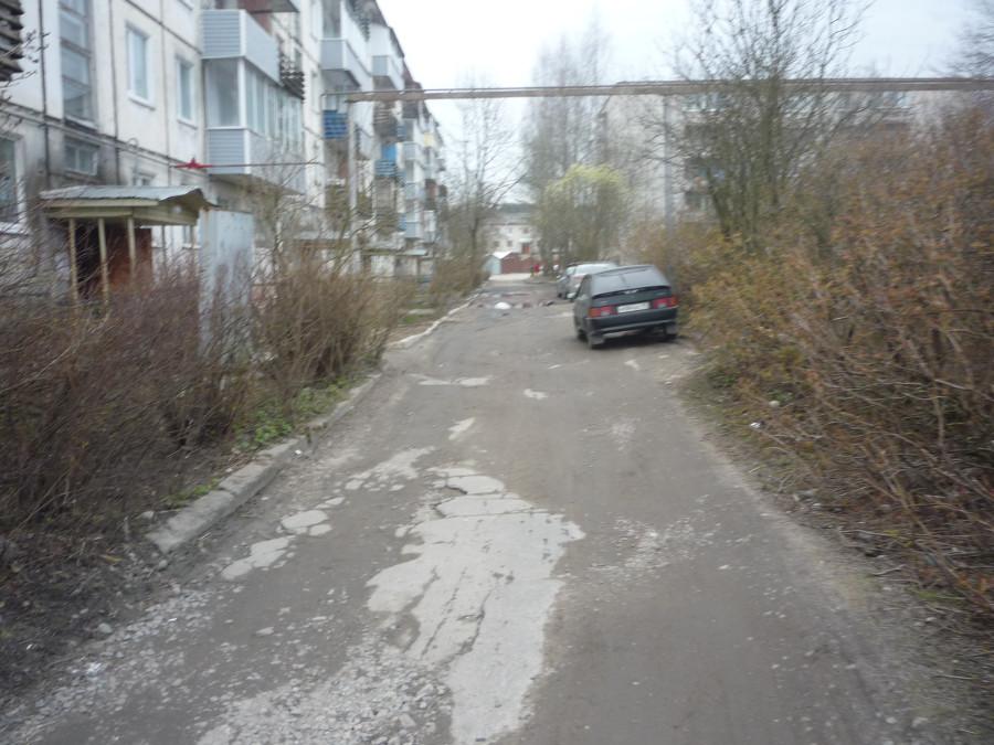 въезд во двор дома 7а по улице Ленина