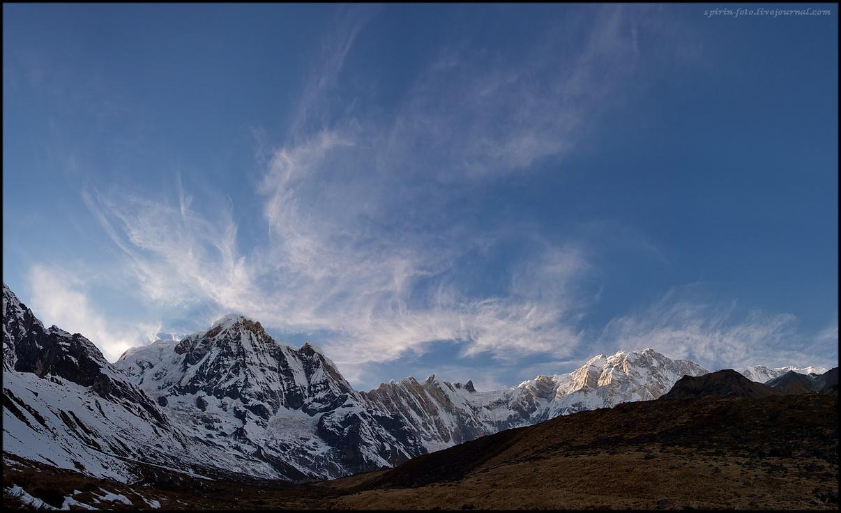 панорама аннапурны вечер обработ