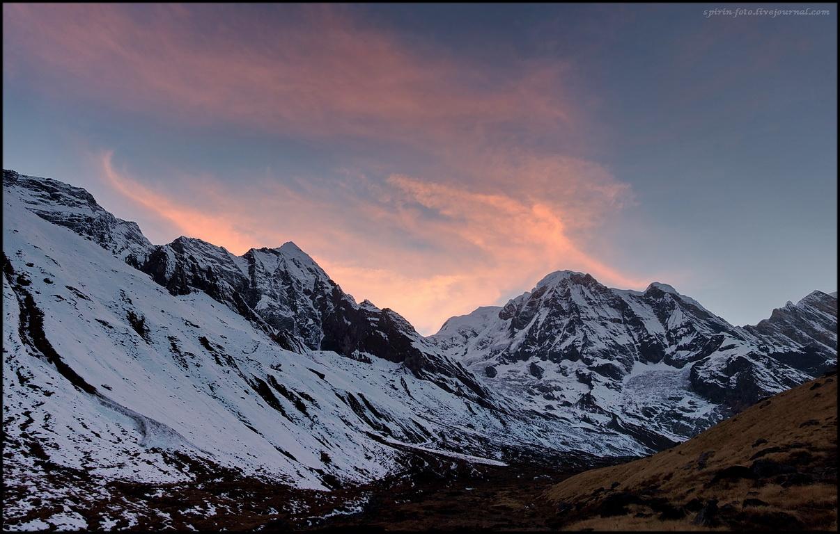 панорама аннапурна закат обработ