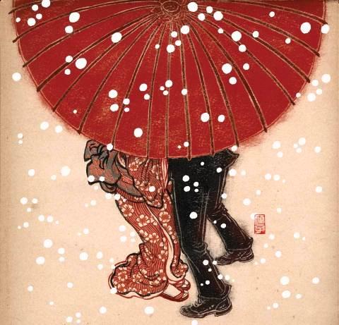 китай под зонтом