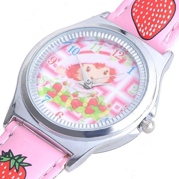 Детские часы с клубничками