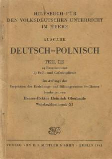 Наставления для фольксдойчей, 1943 г.