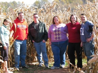 We pose at the corn maze!