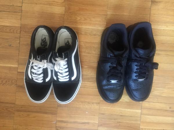 Кроссовки Nike Air Force 1 и кеды Vans