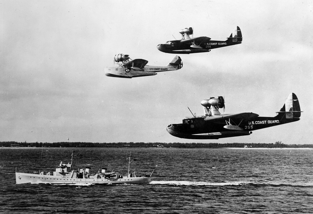 USCG_flying_boats_off_Miami_with_USCGC_Pandora_1934.jpg