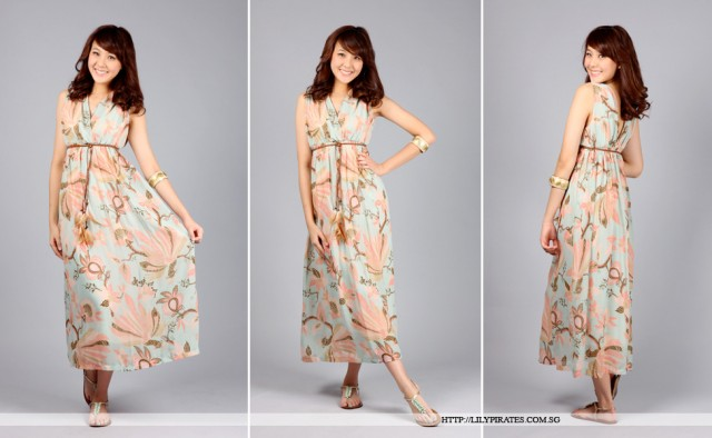 squashycupcake - Lilypirates Butterfly Kiss Maxi in Pastel Prints