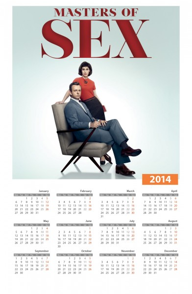 Calendario Masters of Sex