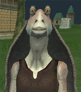 Jar Jar Binks (voice by Ahmed Best)