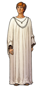 Mon Mothma, President pro tempore (voice by Genevieve O'Reilly)