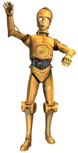 C-3P0 (voice by Anthony Daniels)