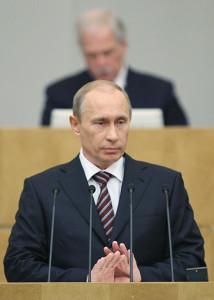Путин в Госдуме, 2008 год