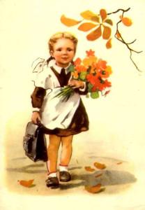 Советская школьница