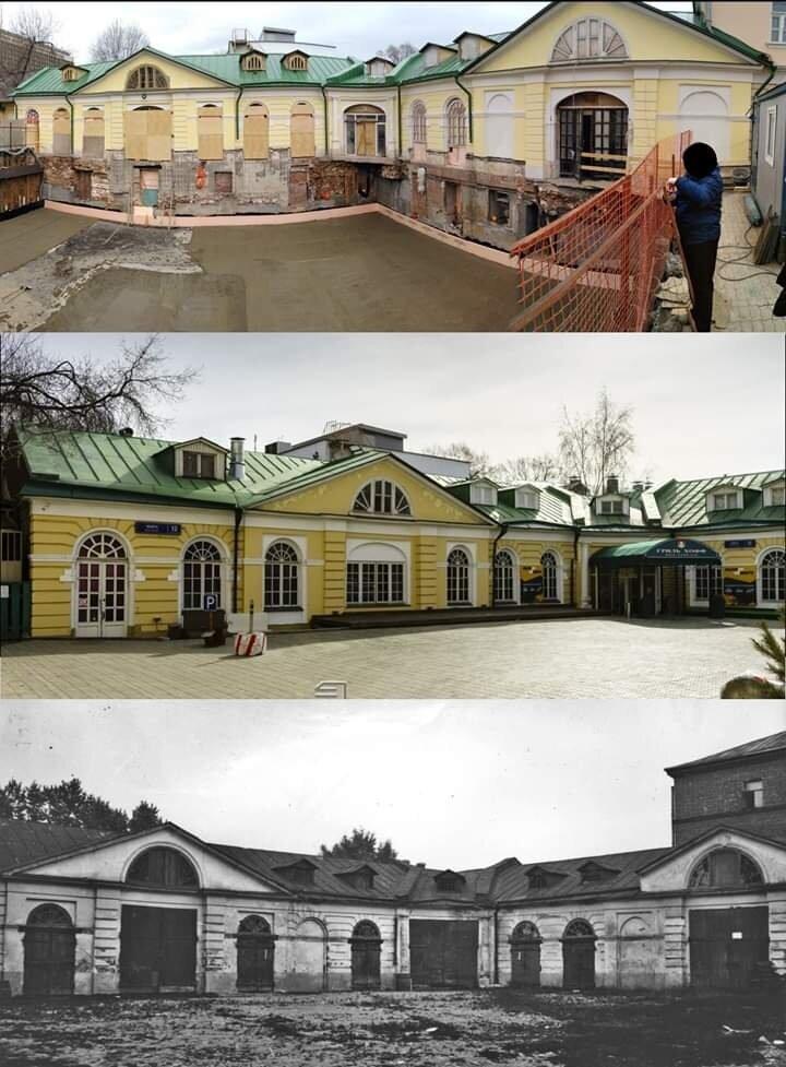 Москва, проспект Мира. Откопан целый этаж с окнами во грунт