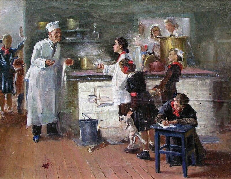 Пионеры 50-х в картинах советских художников