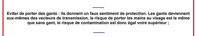 Правительство Франции не рекомендует носить перчатки во время пандемии