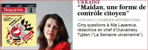 Майдан в Сourrier International 1