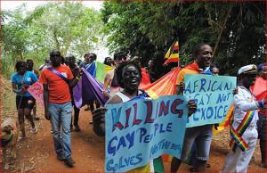 Парад педерастов в джунглях Африки