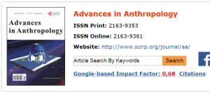 Advances in Anthropology  1